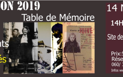 TABLE DE MÉMOIRE