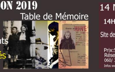 TABLE DE MÉMOIRE